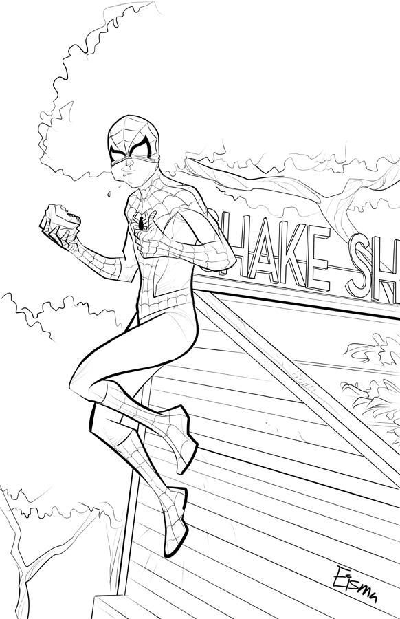Shake Shack Spider-man by Supajoe