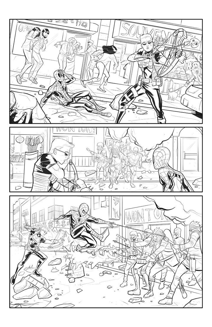 Spider-Man and Hawkeye p2 by Supajoe