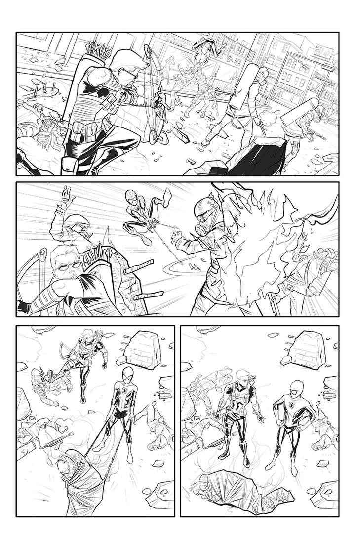 Spider-Man and Hawkeye p3 by Supajoe