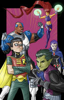 Teen Titans in Color by Supajoe