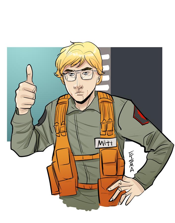 Matt The Radar Technician by Supajoe