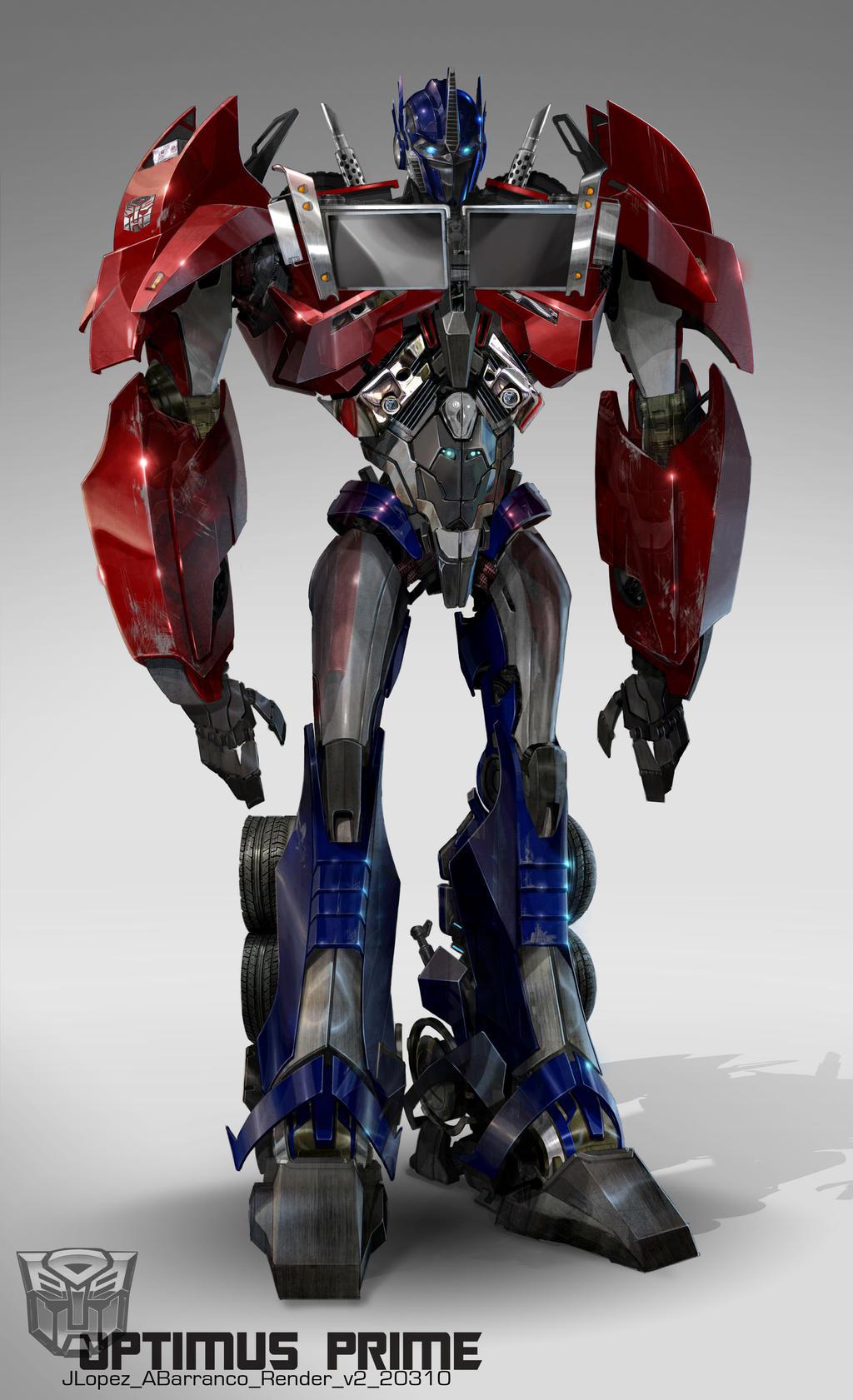Tf optimus prime design v2 by augustobarranco on deviantart - Optimus prime dessin ...