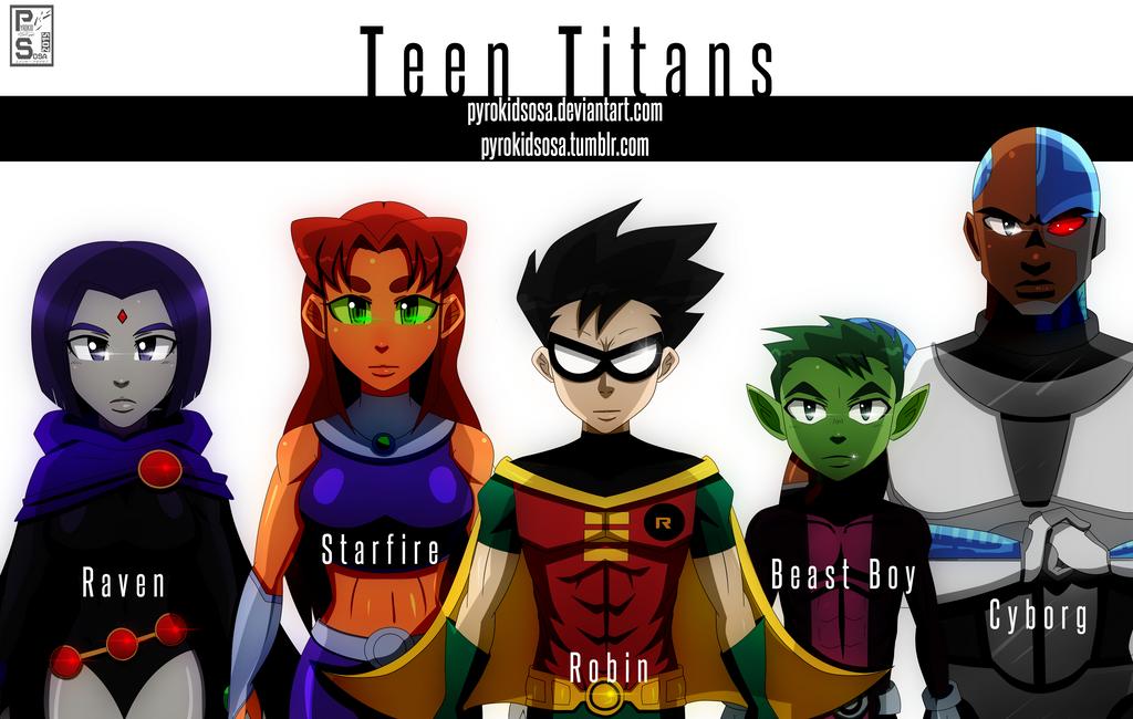 Teen Titans by PyrokidSosa