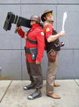 RED Soldier cosplay Team Fortress 2!