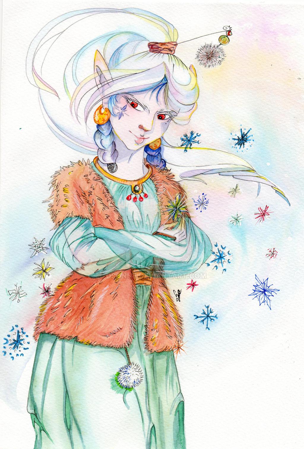 Drifa - snow rabbit by DSonne