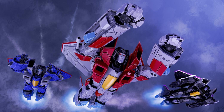 Starscream and His Squadron by kurisama