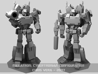 Cybertronian Megatron WIP by kurisama