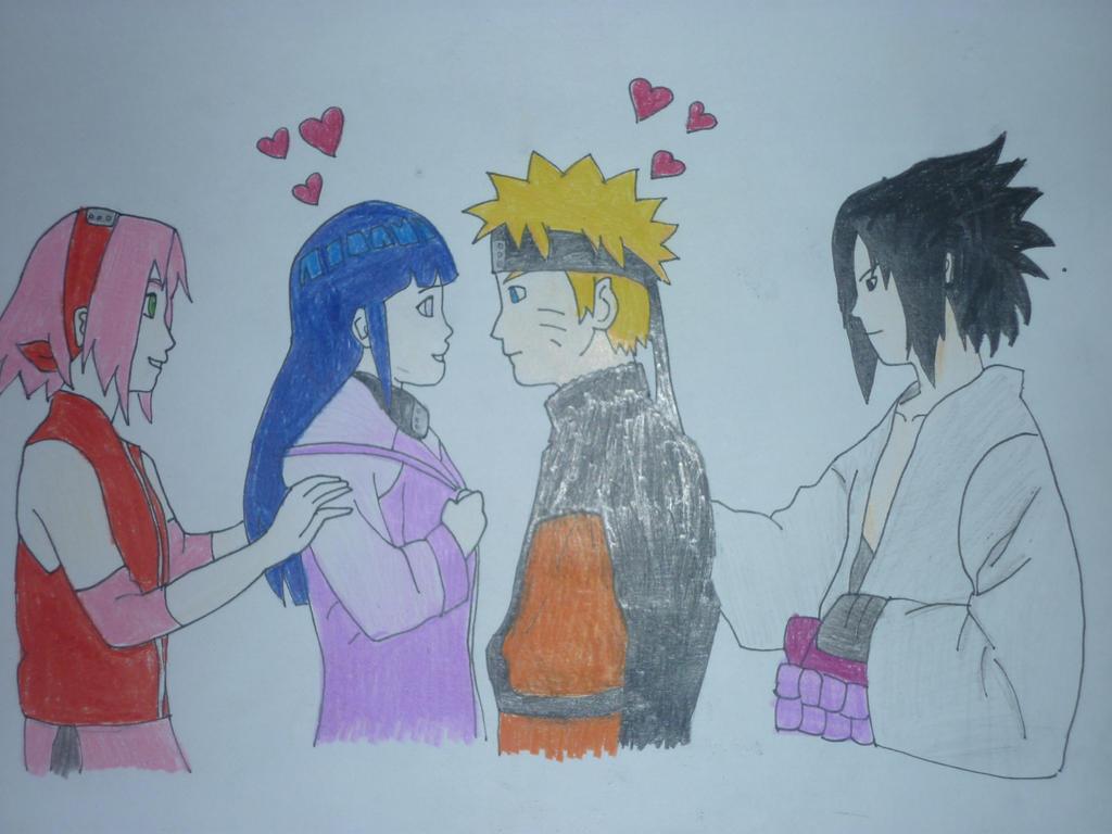 Naruto Sasuke Sakura Hinata Traffic Club