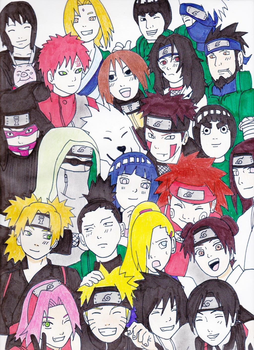 Naruto Shippuden Characters by kekegenkai1 on DeviantArt