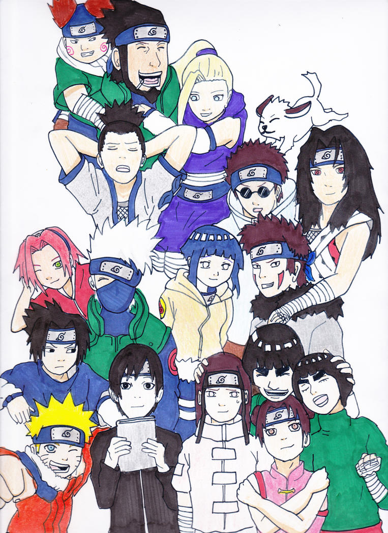 All Together Konoha by kekegenkai1