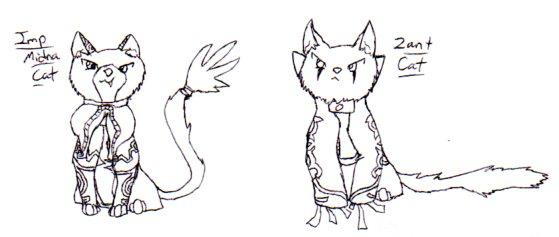 Midna + Zant Cats by nightwindwolf95