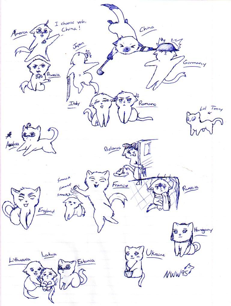 Hetalia Kitties 3 by nightwindwolf95