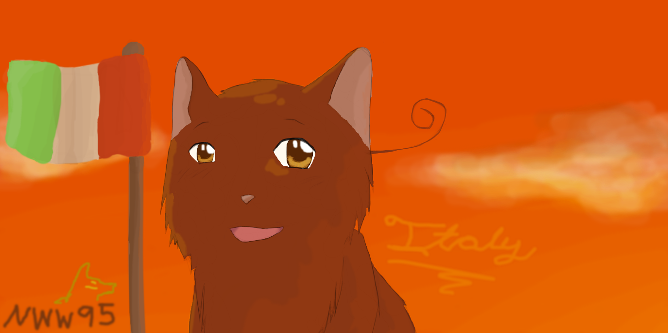 Italy Cat by nightwindwolf95
