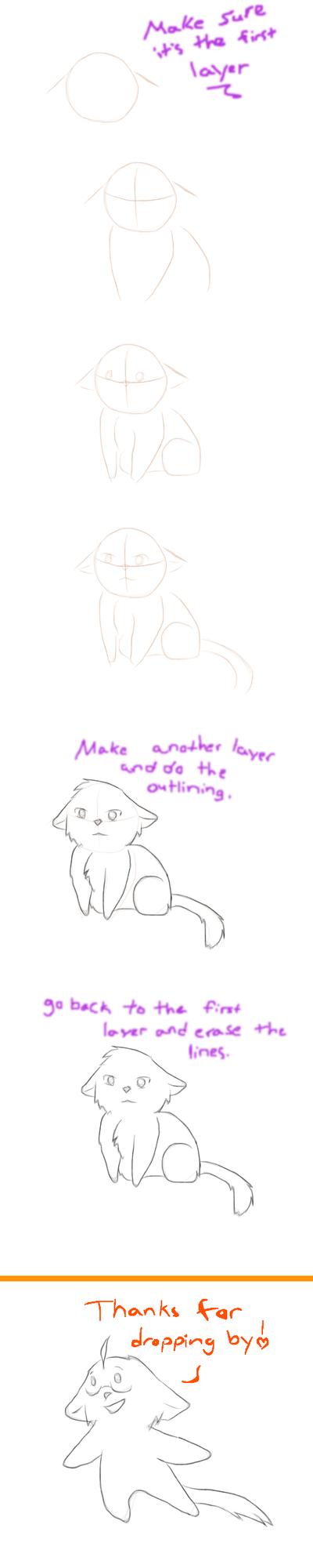 Toony cat tutorial on DA muro by nightwindwolf95