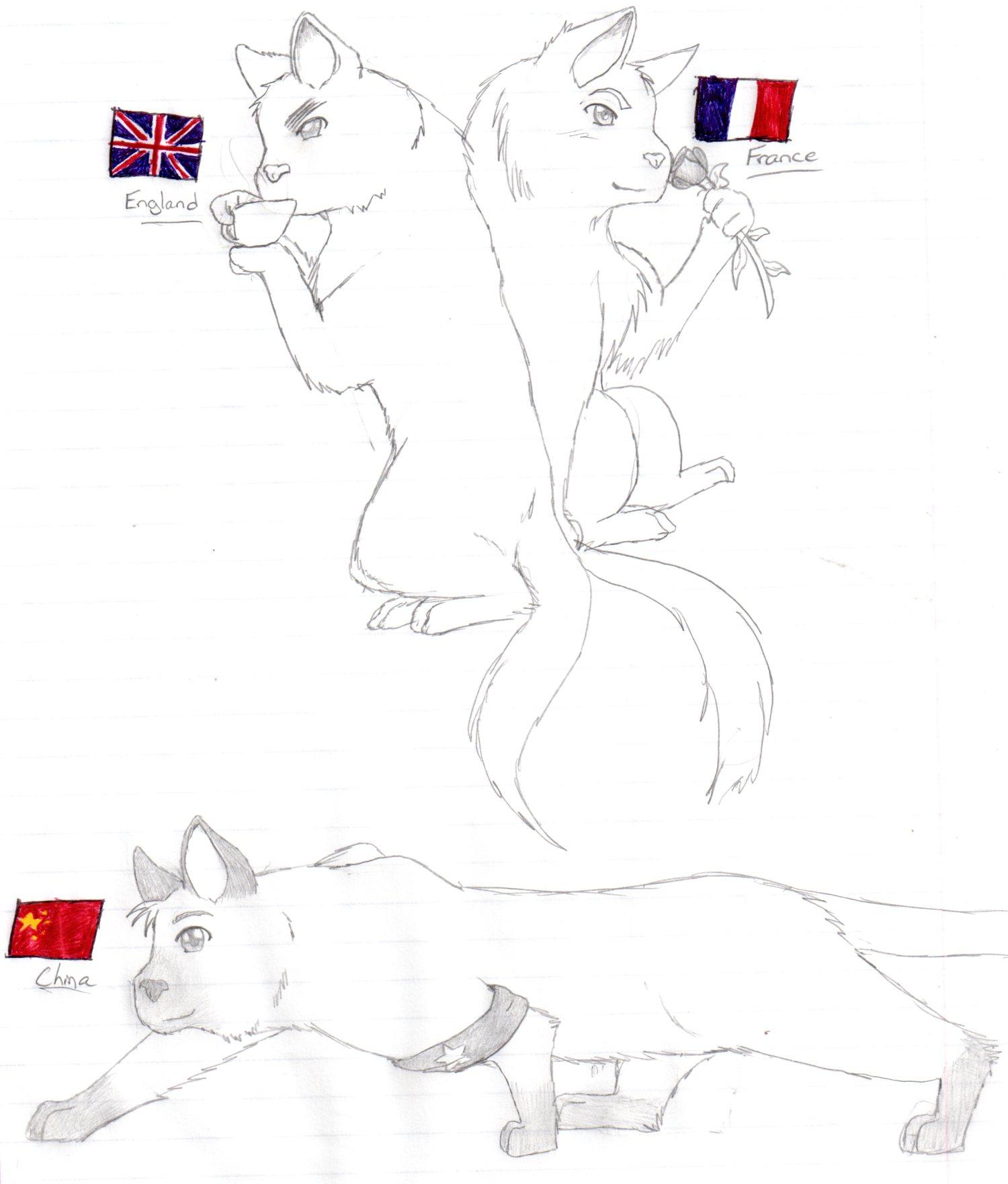 More Hetalia Cats by nightwindwolf95