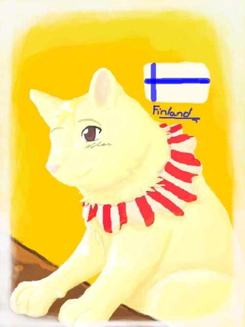 Finland Cat by nightwindwolf95