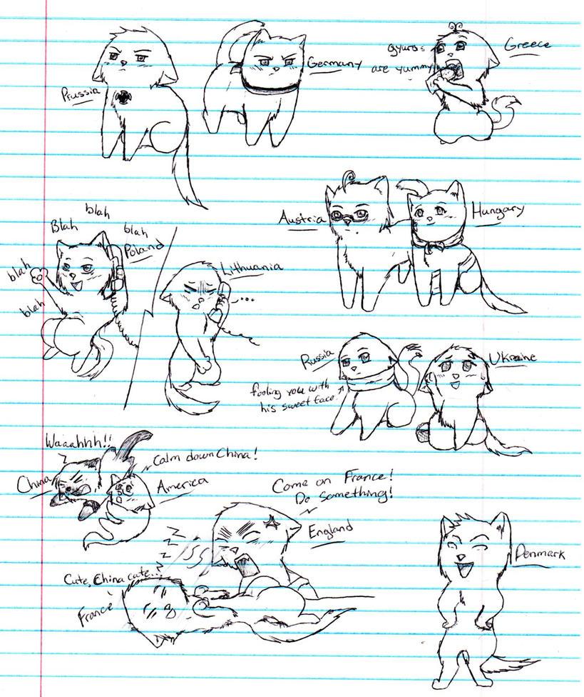 Hetalia Kitties 4 by nightwindwolf95