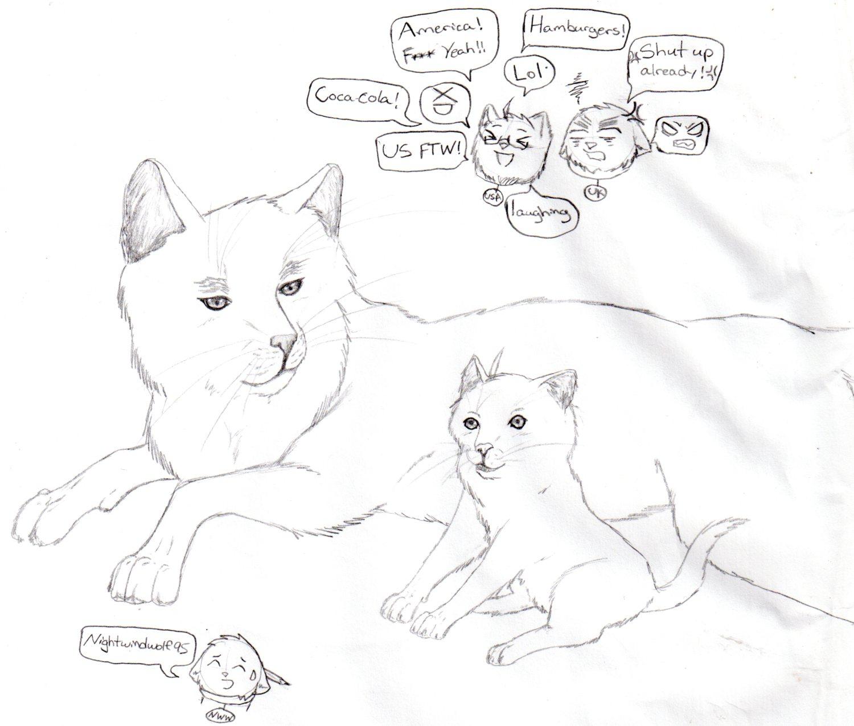 Cute cat America and England by nightwindwolf95