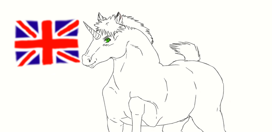Random England Unicorn by nightwindwolf95
