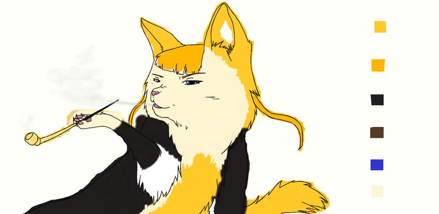 Beatrice Cat sketch by nightwindwolf95