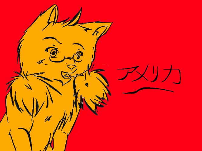 America Kitty by nightwindwolf95