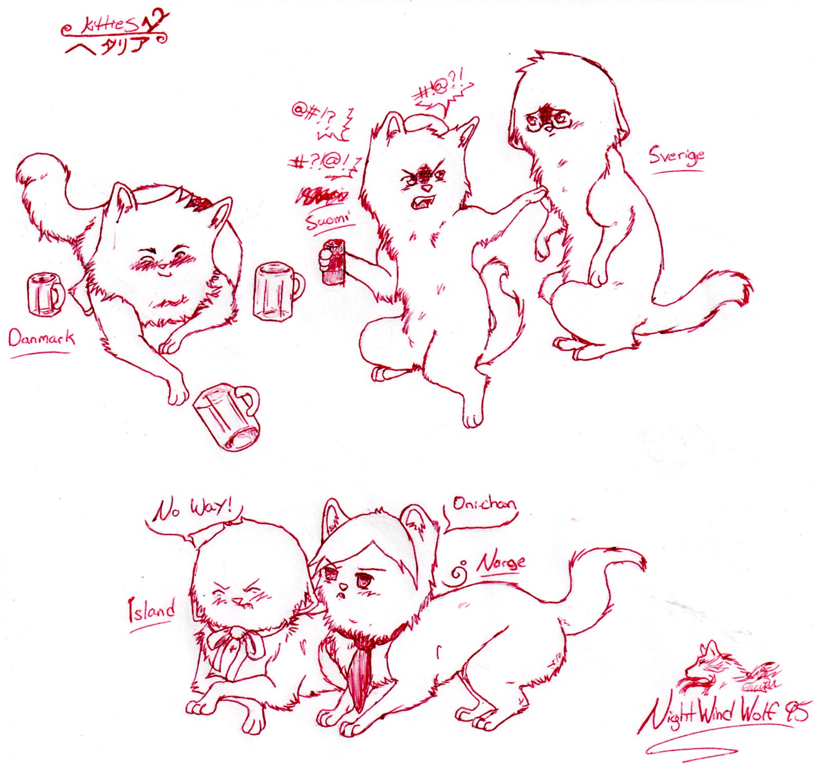 Hetalia Kitties 12 by nightwindwolf95