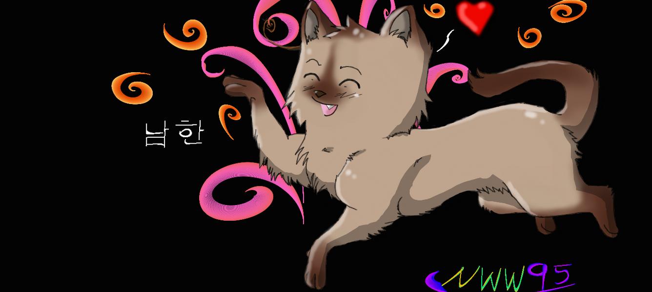 S. Korea Cat colored by nightwindwolf95