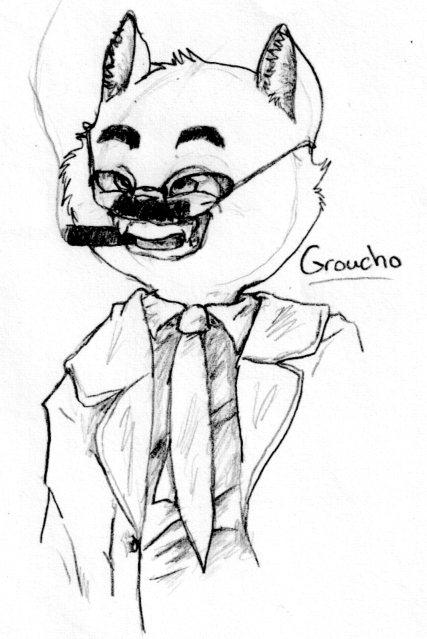 Cat Groucho by nightwindwolf95