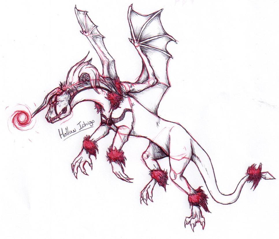Bleach Dragons: Hollow Ichigo by nightwindwolf95