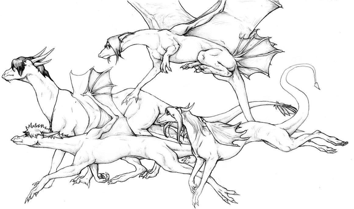 Bleach Dragons: Ichigo and Friends by nightwindwolf95