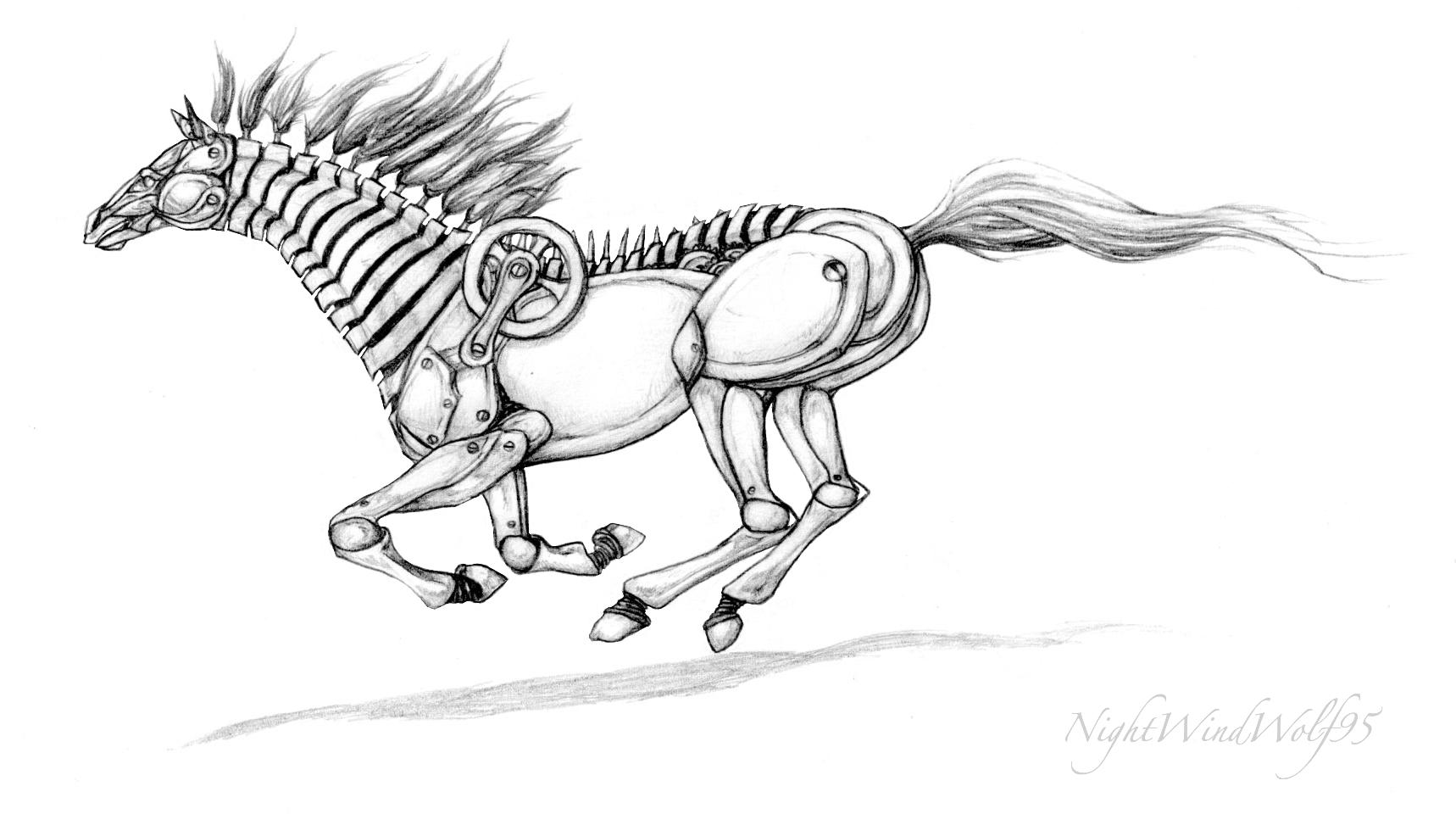 Deviantarts Robot Horse: Robotic Horse By Nightwindwolf95 On DeviantArt