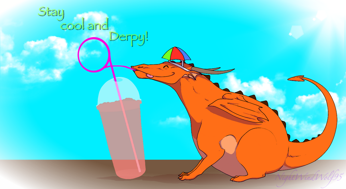 Derp Friday: Stay cool :D by nightwindwolf95