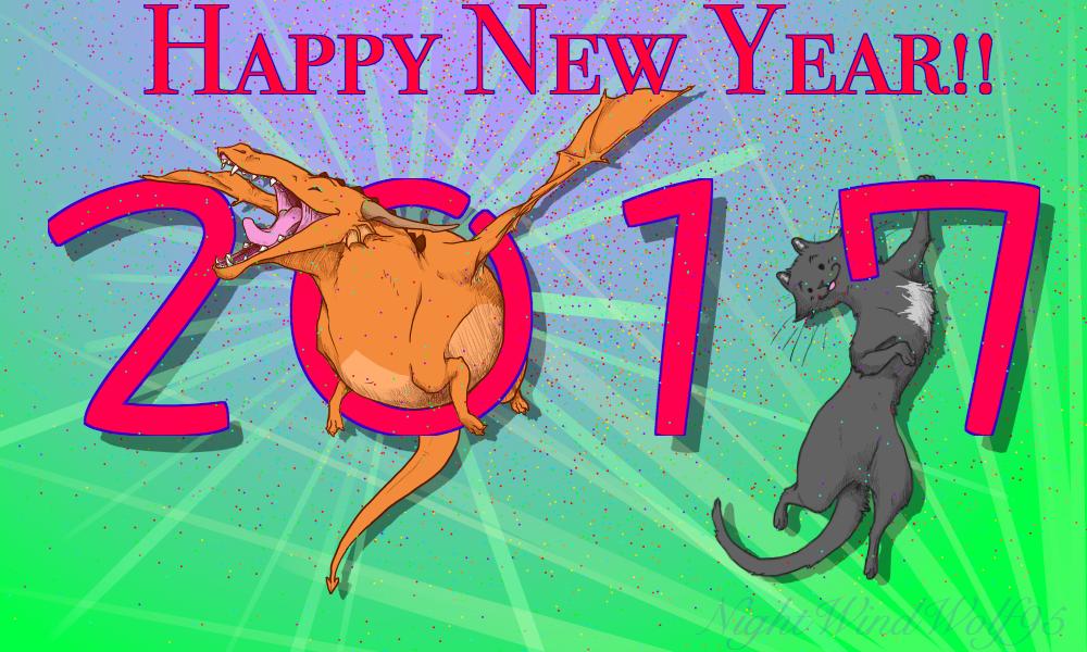 Derp Friday: New Year 2017 by nightwindwolf95