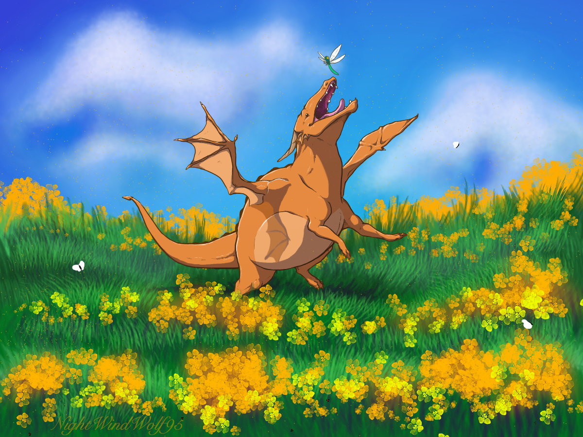 Derp Friday: Playing in the Tall Grass by nightwindwolf95