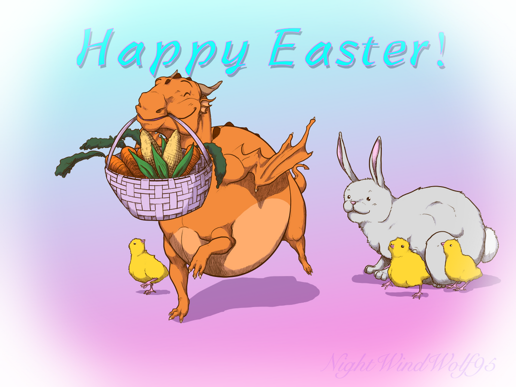 Happy Easter by nightwindwolf95
