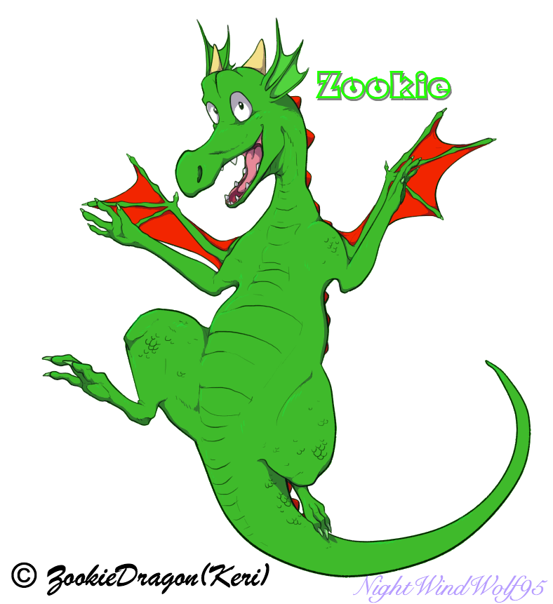Zookie the Dragon by nightwindwolf95