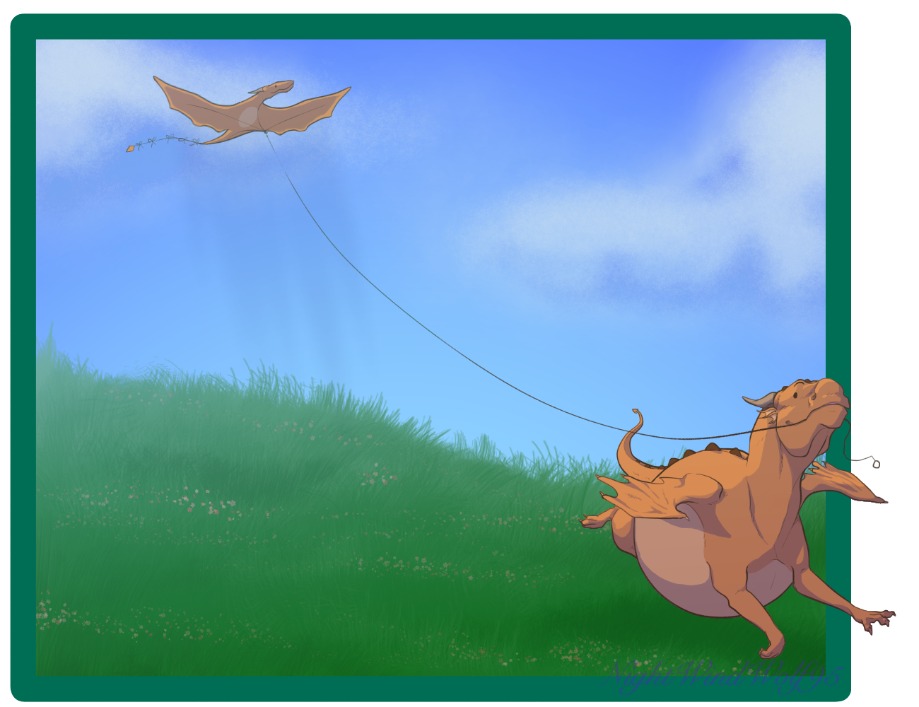 Derp Friday: Kite Flying by nightwindwolf95