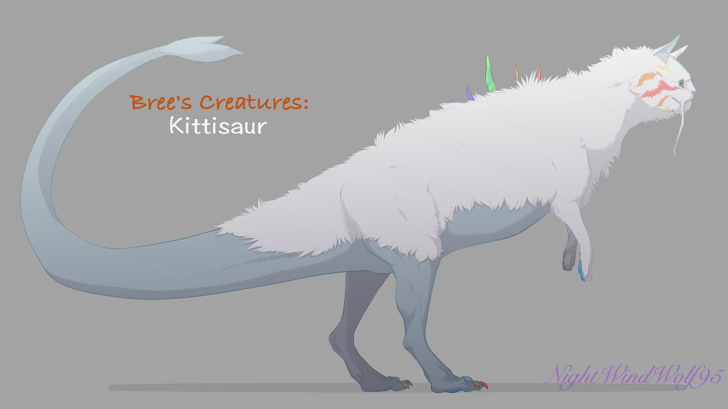 Bree's Creatures: Kittisaur(Female) by nightwindwolf95