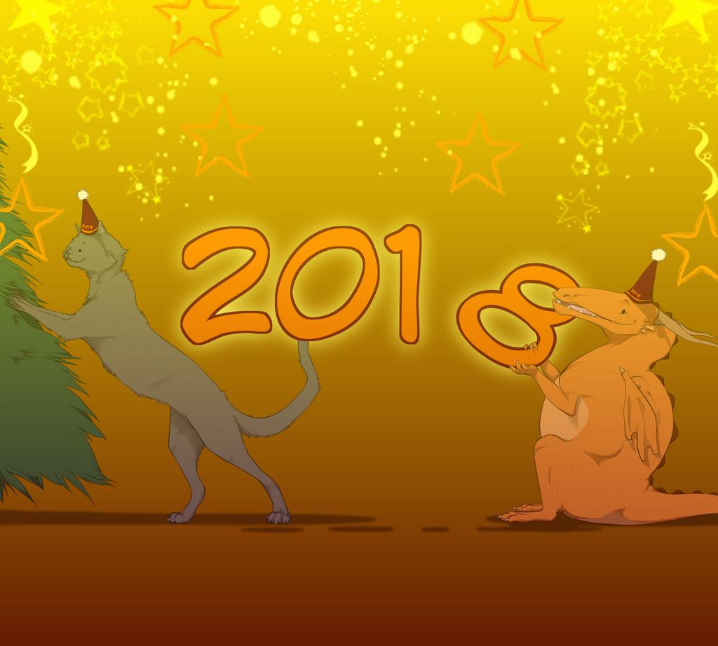 Happy New Year 2018 by nightwindwolf95