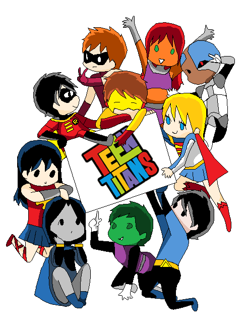 Teen Titans Chibi by C...
