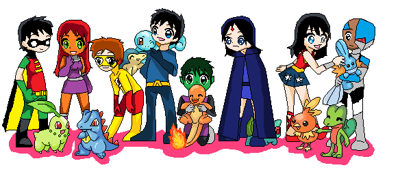 Teen titans playing pokemon by camilosama on deviantart teen titans playing pokemon by camilosama voltagebd Images