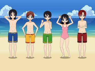 Fab Five in Beach Kisekae by CamiloSama