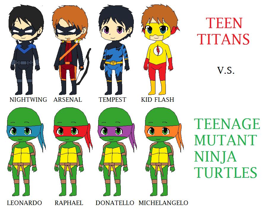 TT vs TMNT by CamiloSama