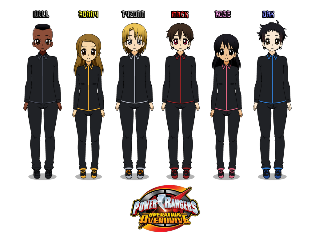 13) Power Rangers Operation Overdrive (work suits) by CamiloSama