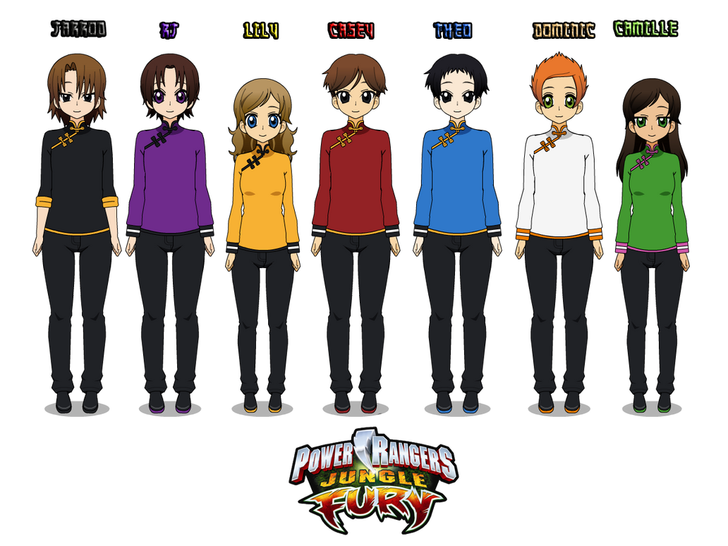 14 power rangers jungle fury with uniforms by camilosama on 14 power rangers jungle fury with uniforms by camilosama voltagebd Image collections