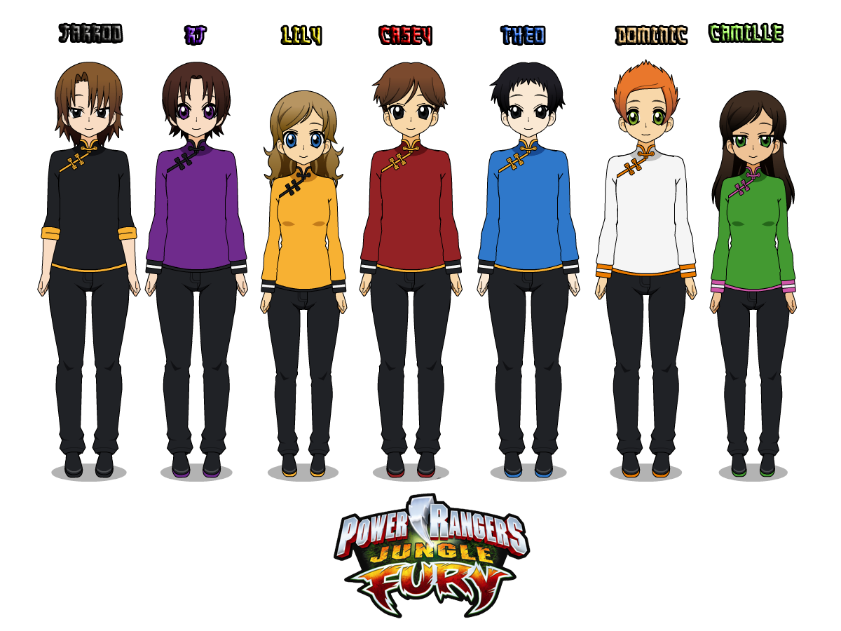 14) Power Rangers Jungle Fury (with uniforms) by CamiloSama
