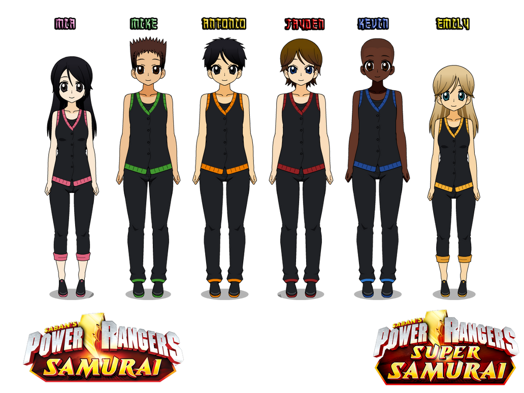 16) Power Rangers Samurai (Training uniforms) by CamiloSama
