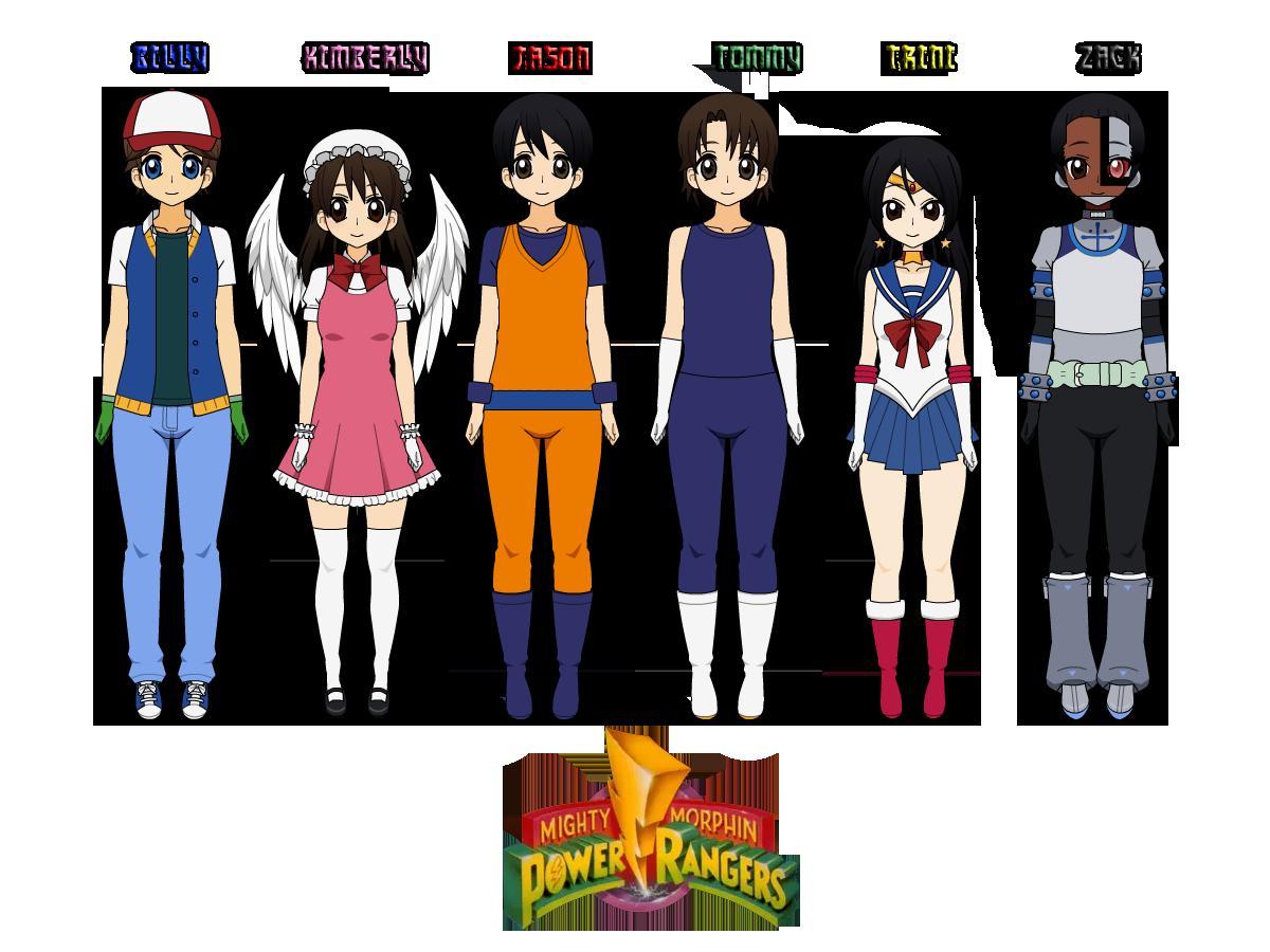 Kisekae Power Rangers in Anime Cosplays by CamiloSama