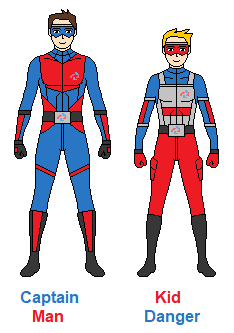 Captain Man and Kid Danger by CamiloSama
