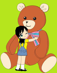 Lian and big teddy by CamiloSama